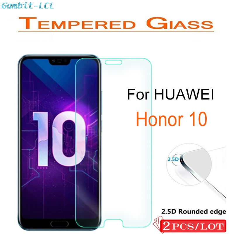 2PCS Tempered Glass For Huawei Honor 10 Screen Protector 2.5D 9H On The Phone Film Protective Safety Glass For Honor10