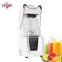ITOP Commercial blender with Sound Cover 1800W Ice Crusher Vegetable Fruit Juicer Heavy Duty Professional Blender Machine