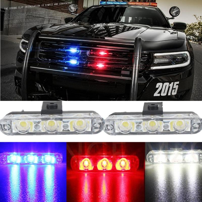 MZORANGE лучшее качество 2х3/ 6led от скорой помощи, полиции света DC 12V автомобиль свет мигает пожарные огни Строб сигнальная лампа автомобиля-стайлинг