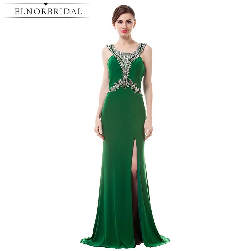 Emerald Green Evening Dresses Long 2017 Elegant Robe De Soiree Formal Women Party Dress Backless Mermaid Prom Gowns
