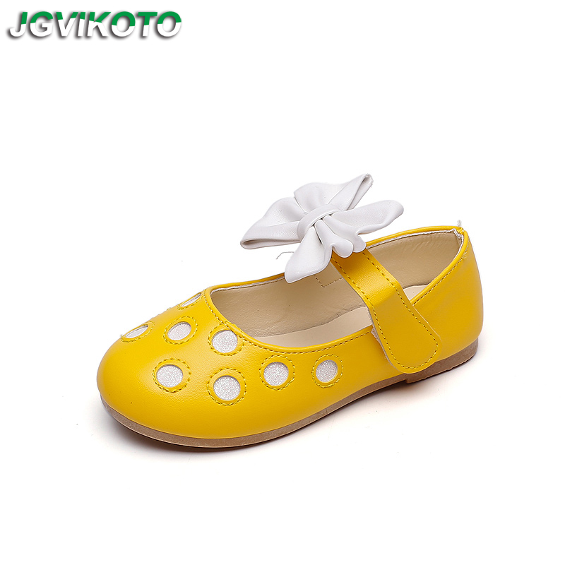 Fashion Girls Shoes Cute Children's Leather Shoes Bright Candy Color With Bow knot Princess Soft Kids Flats For Wedding Party|Sneakers| |  - title=