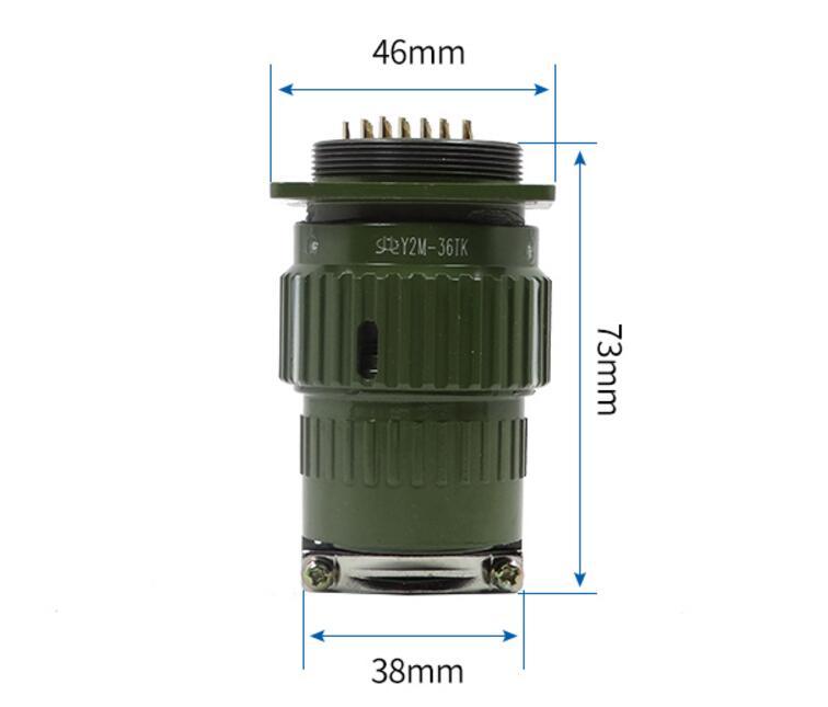 где купить Army Grn Metal Shell 4/19/36/50/65 Pins Circular Connector AC 300V по лучшей цене
