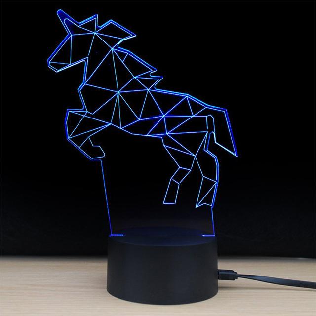 3D UNICORN LED MODELLING