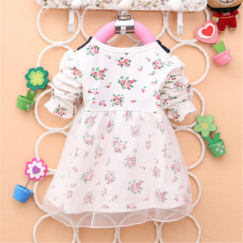 2017-Spring-New-Fashion-Baby-Girls-Cotton-Dress-Big-Bow-Infants-Nice-Floral-Dresses-3