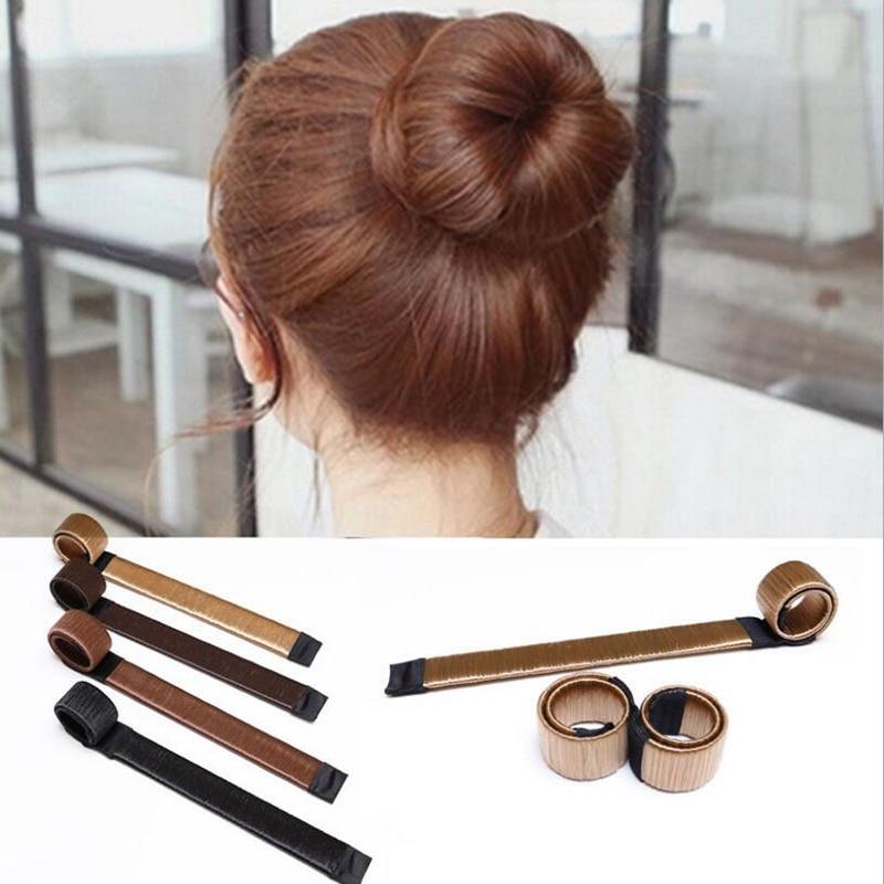 JS 1pc Women Twist Styling Band Braid Maintenance Hair Curls Bun Synthetic Wig Braid Fre ...