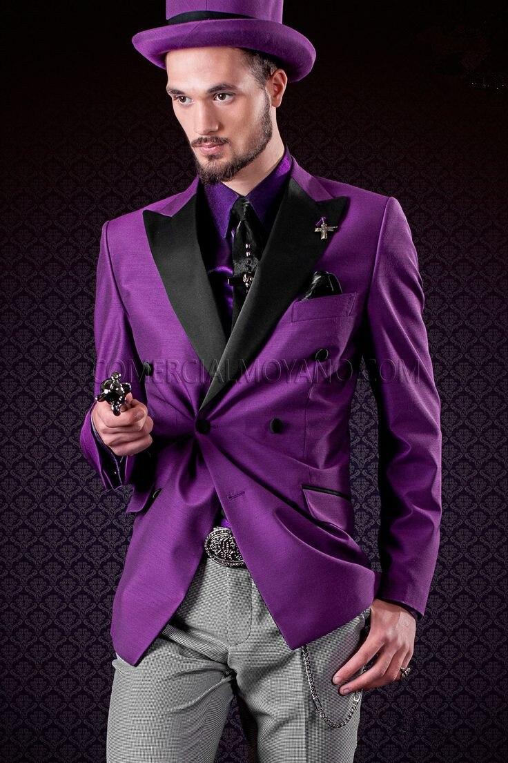 Pantalones doble botonadura italiano chaqueta de encargo del smoking ...