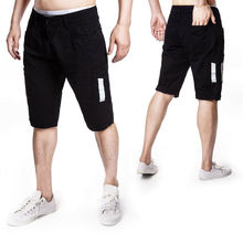 Summer New Casual Shorts Multi-Pocket Loose Five-Points Solid Men Cargo