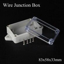 IP65 83x58x33 мм водонепроницаемый распределительный ящик из прозрачного пластика проект коробка терминал прозрачный открытый корпус коробка настенное крепление