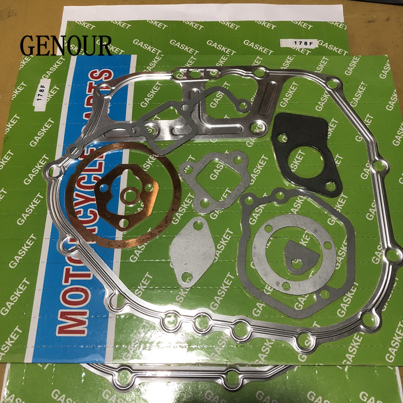 FULL GASKET SET FOR CHINESE 178F 6HP 4 STROKE DIESEL FREE SHIPPING 3KW GENERATOR BASE GASKET REPLACEMENT PARTSFULL GASKET SET FOR CHINESE 178F 6HP 4 STROKE DIESEL FREE SHIPPING 3KW GENERATOR BASE GASKET REPLACEMENT PARTS
