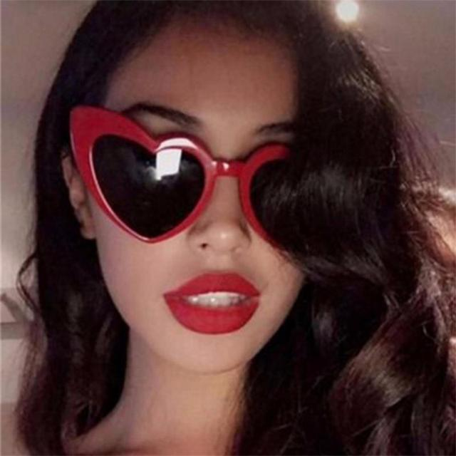 19db7caa8a9 2018 love Heart Shaped Sunglasses women cat eye vintage Christmas gift black  pink red heart shape sun glasses for women uv400