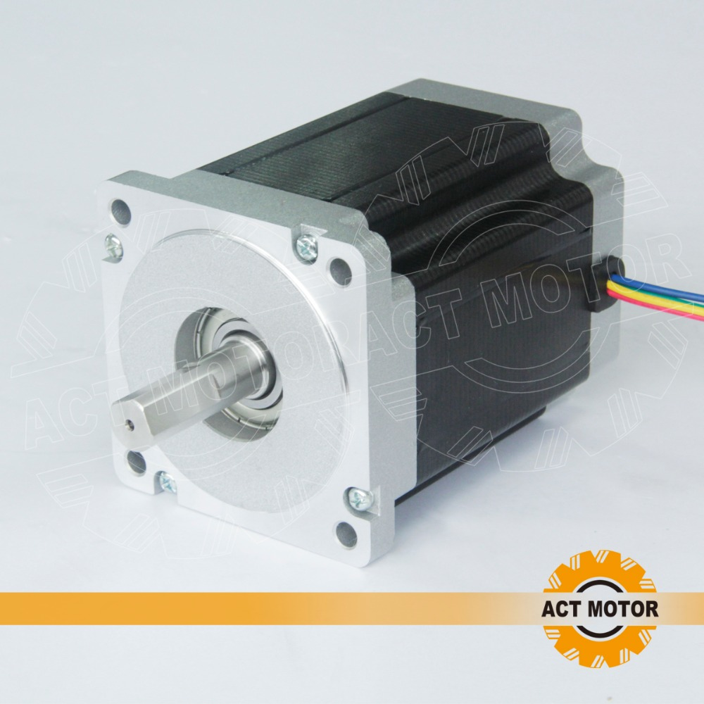 Free ship from Germany!ACT Motor 1PC Nema34 Stepper Motor 34HS1456 Single Shaft 4-Lead 1232oz-in 118mm 5.6A Bipolar CE ISO ROHS free ship from germany act 3pcs nema34 stepper motor 34hs1456b dual shaft 4 lead 1232oz in 118mm 5 6a 3pcs driver dm860 7 8a 80v