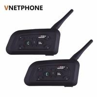 2pcs Set V6 Motorcycle Helmet Bluetooth Headset Intercom 6 Riders 1200M Wireless Interphone BT Headset