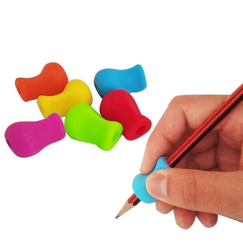 2Pcs Pencil Grips Occupational Therapy Handwriting Aid Kids Children Student School Stationery Pen Control Right Silicone Write