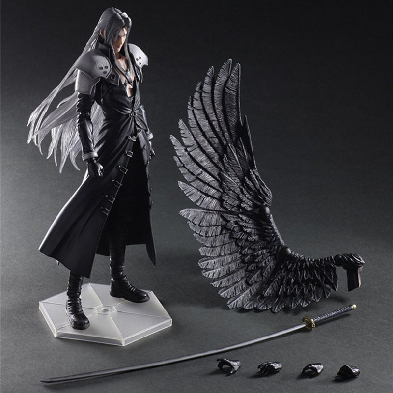 PLAY ARTS 28cm <font><b>Final</b></font> <font><b>Fantasy</b></font> VII <font><b>7</b></font> Sephiroth PVC Action Figure Collection Model Toys For Gift image