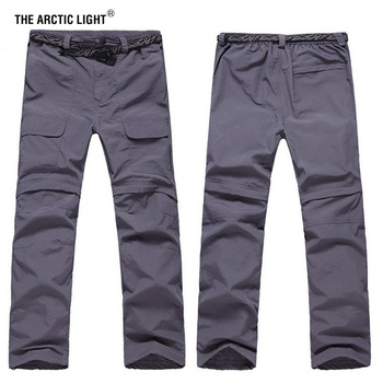 THE ARCTIC LIGHT New Spring Summer  Man Hiking male fishing active quick-dry pants UV detachable leg Trousers free shipping