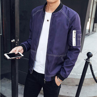 TG6404 Cheap Wholesale 2017 New Cultivate One S Morality Short Paragraph Color Matching Collar Jacket Male