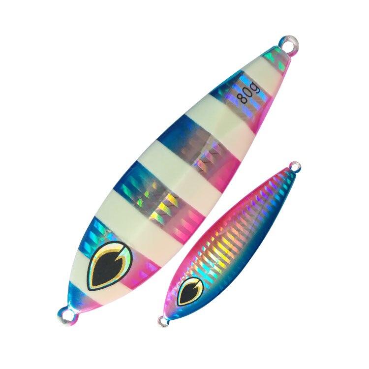 FUNADAIKO 100g lead jig Artificial Metal jig fishing Lure Luminous Slow jig Fishing Bait Deep Saltwater slow sinking