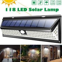 3 Modes Garden Solar LED Lights 118 PIR Motion Sensor Lamp IP65 Waterproof Outdoor Light Decoration Yard