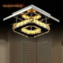 Мода Потолочный Светильник Спальня Свет 12 Вт LED Хрустальные Потолочные светильники Для Поверхностного Монтажа Освещения Лампы Из Нержавеющей Стали Бесплатная Доставка