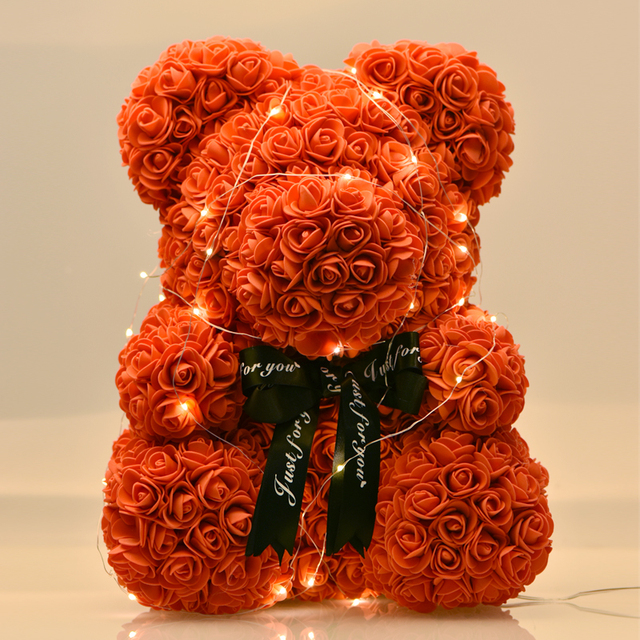 Bear Shaped Artificial Roses Decorations
