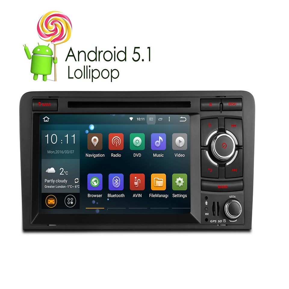 "Newest 7"" Android 5.1 Lollipop Quad Core 2 Din DVD Car ..."