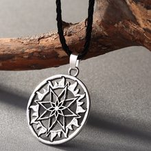 CHENGXUN North Viking Amulet Pendant Alatyr Star Slavic Jewelry Necklace Sun Symbol Occult Pendant Germanic Pagan Men Necklace(China)