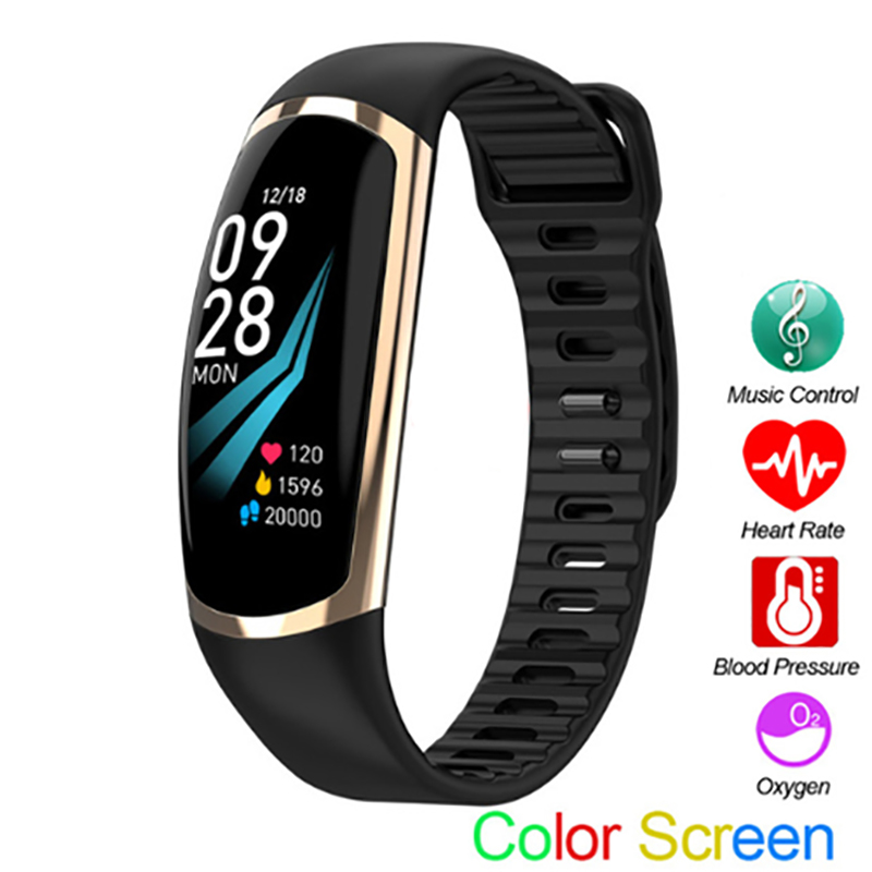 R16 Smart Bracelet Android IOS Heart Rate Band Sleep Monitor Blood Pressure Fitness Tracker Waterproof Color Screen Sport Band