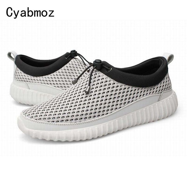 New Men Casual Shoes Summer Breathable Mesh Zapatillas Flats Beach Walking