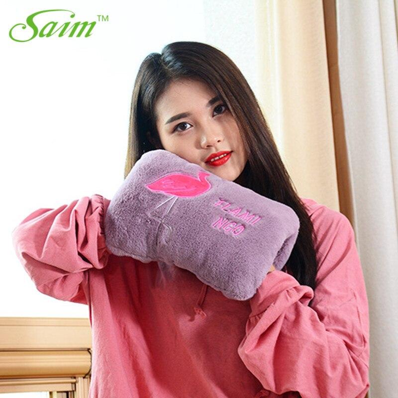 Saim Cute Animal Hot Bottle Water Bag Charging Electric Hot Water Bag Winter Hand Warmers Plush Heating Warm Hot Bottle A 214 in Hot Water Bottles from Home Appliances