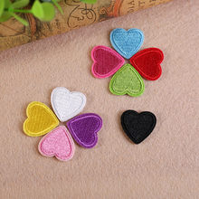 Love Red & Pink Heart Iron On Patch Clothes Stickers for boys girl woman jeans decorate badges DIY Embroidered Accessories(China)