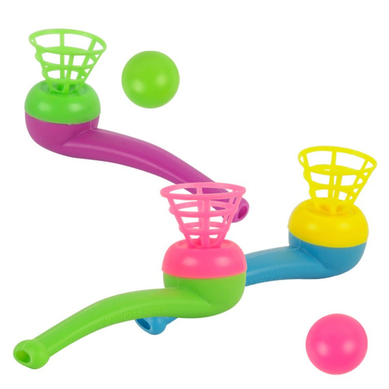 Kids Educational Toys Cute Little Toy Tobacco Pipe Blowing Ball Nostalgia Suspended Ball Classic Toys