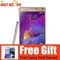 Примечание 4 Оригинальный Разблокирована Samsung Galaxy Note 4 LTE Смартфон Quad Core 5.7 ''16MP 3 ГБ 32 ГБ Восстановленное