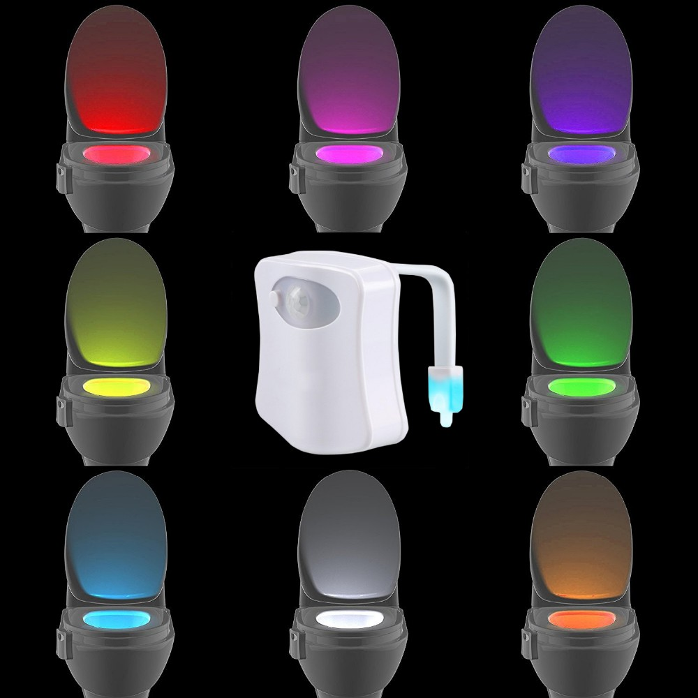8 Colors Led Toilet Night Light Motion Activated Toilet