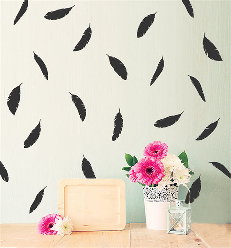 feather wall sticker diy peel and stick art for kids room animal train peel and stick wall sticker simpleshapes