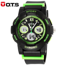 OTS Digital Kids Watch for Boy Girls Fashion Waterproof Analog Quartz Childrenes Watch Student Outdoor Electronic Sport Clock