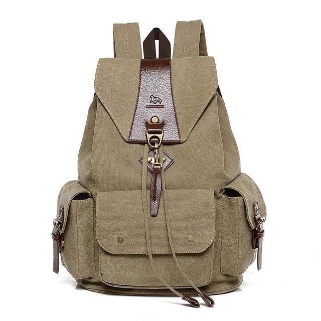 edf3ff5f6 Mochila de lona de alta calidad, nueva mochila de escuela 2016 para hombres  y mujeres