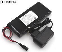 ENTEMPLE 9.8Ah 9800 mAh 18650 Batería Recargable de 12 v 12 V Tablero de la Protección CCTV Monitor de batería + 12.6 V 1A cargador
