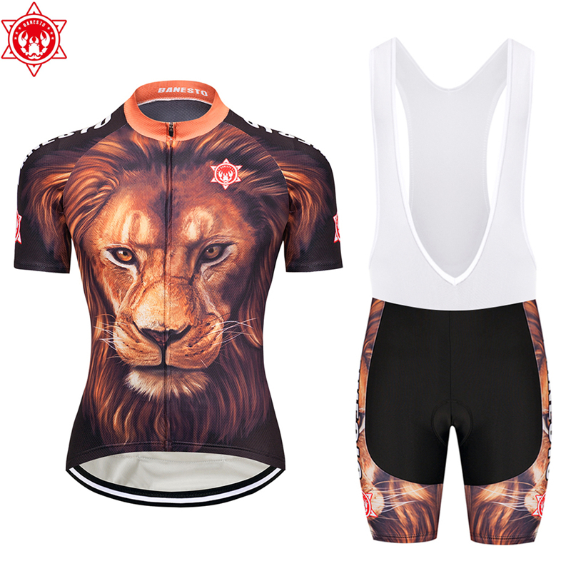 2018 Banesto Cycling jerseys Lion King Jersey suit summer fast-drying sportswear 9D cushion
