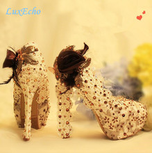 New Arrival Wedding shoes High heel Platform shoes Night Club Performance shoes Pig leather Fashion Dress shoes