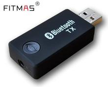 Bluetooth Transmisor RCA 3.5mm Música Audio Del Transmisor Del Remitente Wireless Bluetooth USB Adaptador para TV Auriculares MP3 Informáticos