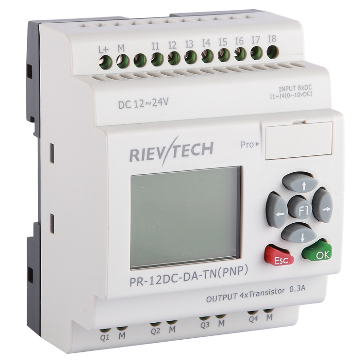 RIEVTECH, 8 Inputs And 4 Transistor Outputs Programmable Relay PR-12DC-DA-TN