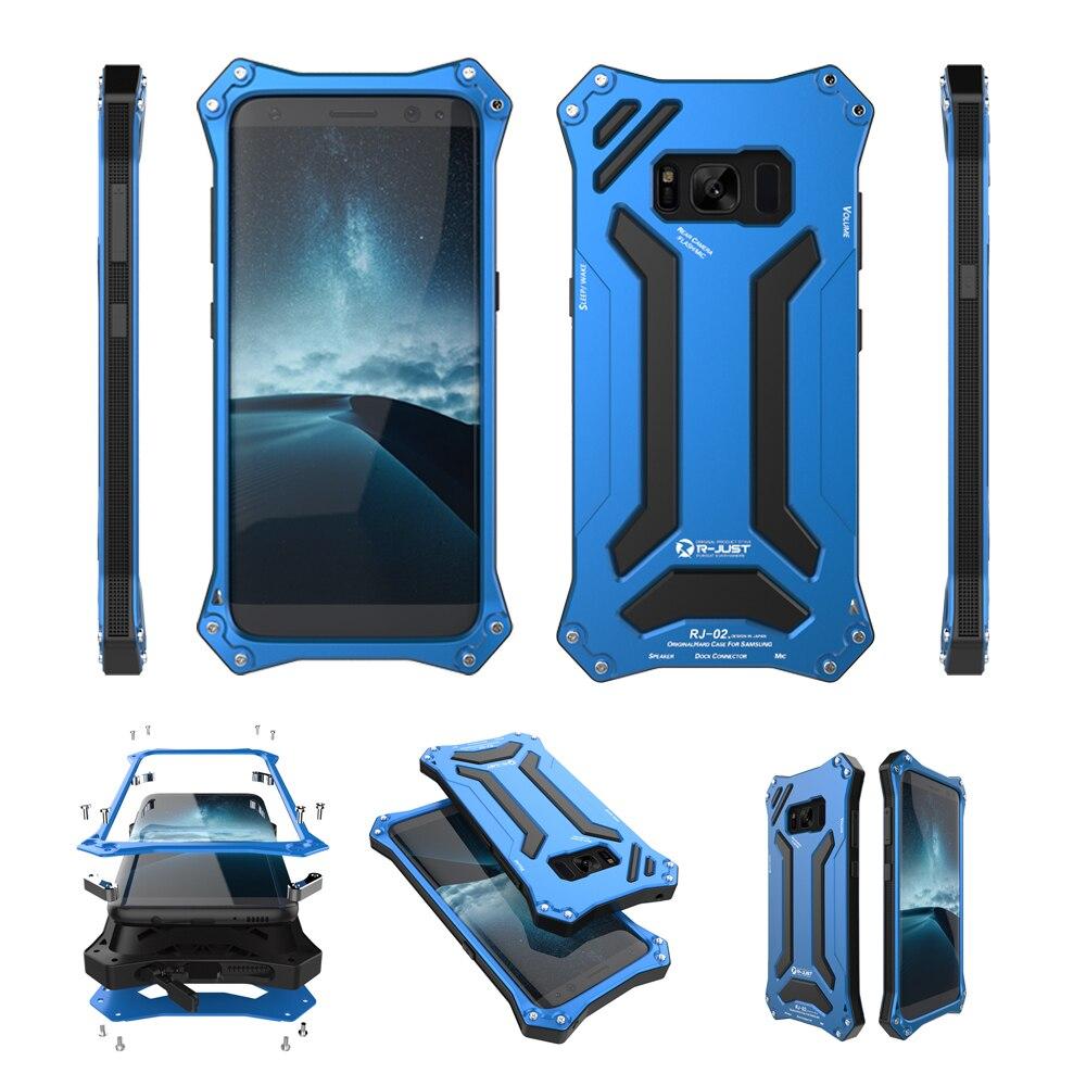 imágenes para R-JUST Exterior Resistente Al Agua A Prueba de Choques De Aluminio de Metal Cubierta de la Caja Armor Shield Shell para Samsung Galaxy S8 S8 + Plus ORIGINAL
