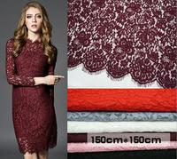 7 Colors fabric for wedding dress lace women dress lace material sewing fabrics cotton&nylon corded french lace 1 piece 150*150