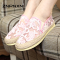New 2016 Fashion Spring Summer Women's Shoes Women Loafers Ladies Mesh Shoes Handmade Breathable Flower 7 colors