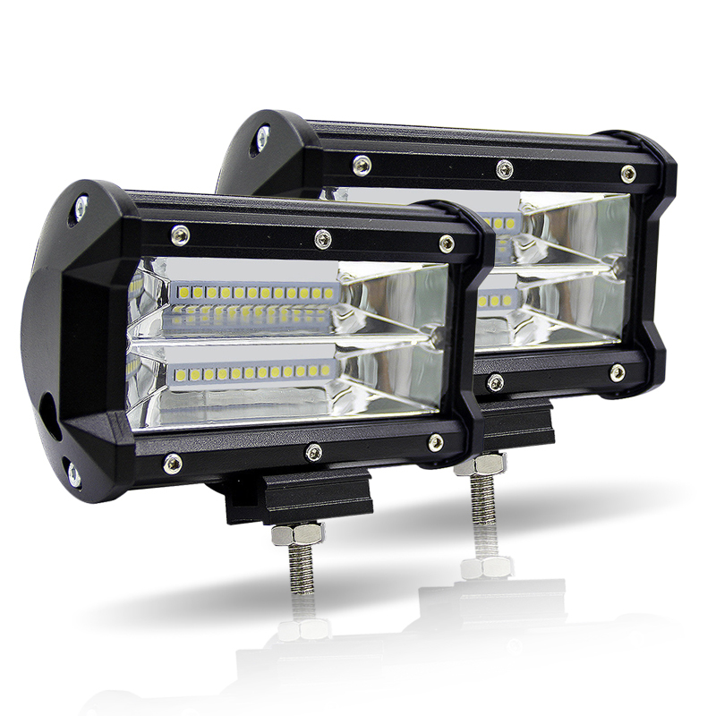 LED Car Work Light Bar 5 Inch 72W Dual Row 6000K Offroad 4x4 Driving Light 12V Fog Light for Tractor Truck Boat UTV SUV Lamps-in Light Bar/Work Light from Automobiles & Motorcycles