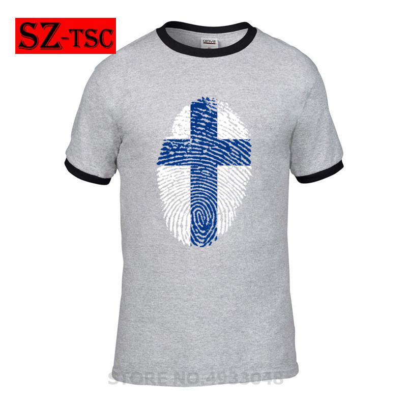 <font><b>finland</b></font> <font><b>flag</b></font> fingerprint 2019 New Fashion T <font><b>shirt</b></font> Brand Clothing Hip Hop Print Men TShirt Short Sleeve High Quality T-<font><b>Shirt</b></font> Men image