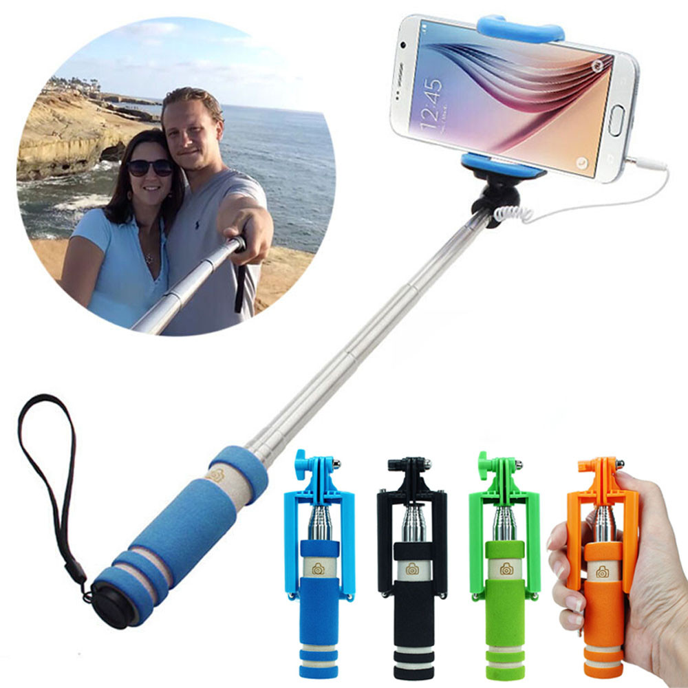 mobile phone mini handheld selfie stick extendable portable monopod tripod for iphone samsung. Black Bedroom Furniture Sets. Home Design Ideas