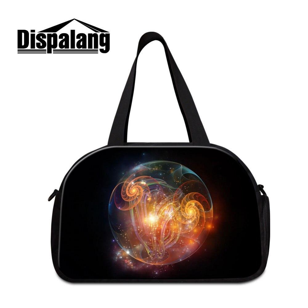 Dispalang Women Men Black Travel Bags Dream Large Capacity Luggage Travel Duffle Bags Travel Handbags Big Shoulder Bags Of Trip