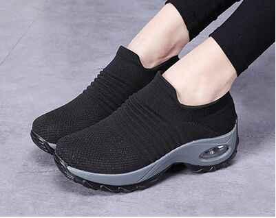 ONKE ผู้หญิงเดินขนาดใหญ่รองเท้าแพลตฟอร์มรองเท้าผ้าใบสำหรับกีฬารองเท้า Slip-On เลดี้ Loafers Air Sole รองเท้ารองเท้ากีฬา