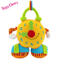 Happy Cherry Baby Educational Toy Soft Cloth Clock Toy Cartoon Plush Multifunctional Toy Enlightenment Toys For 0-12 months Baby